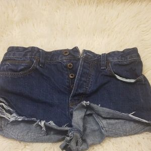 Free People buttons up demin shorts